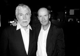 Glenn O'Brien and Richard Prince at Balthazar to celebrate the opening of…