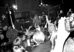Iggy Pop performing at the Pop Party at Don Hill's, New York….
