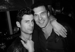 Andre Saraiva and Andre Balazs at the Purple Party, Le Bain, New…