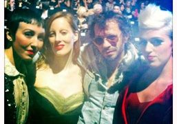Michelle Harper, Liz Goldwyn, Olivier Zahm and Rosson Crow after the Z…