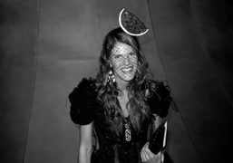 Anna Dello Russo after the Marc Jacobs S/S 2011 show, New York….