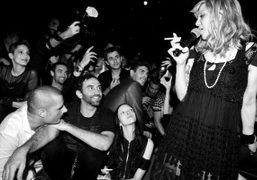 Courtney Love performing at the Givenchy aftershow party, Paris. Photo Stephane Feugere