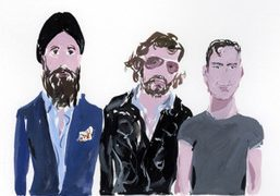 Waris Ahluwalia, Olivier Zahm, and Andre Saraiva at ThreeASFOUR, an illustration by…
