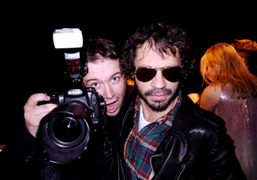 Vogue photographer Stephane Feugere and Olivier Zahm at Roberto Cavalli's birthday party,…