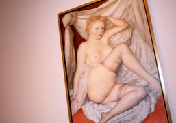 Another painting from John Currin's exhibition at Gagosian Gallery, Madison Avenue, New…
