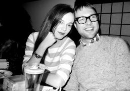 Hailey Gates and her boyfriend Mickey Madden from Maroon 5 at Waris…
