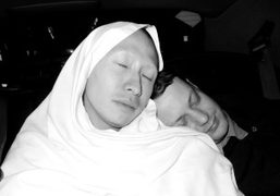 Terence Koh and his boyfriend Garrick Gott in my car back from…