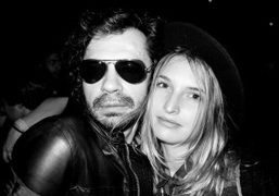Olivier Zahm and a girl at Le Bain, Standard Hotel, New York….