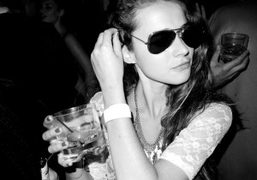 A girl wearing my aviators at Le Bain, Standard Hotel, New York….