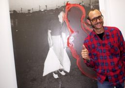 Terry Richardson at the opening of Shadow Fux, a two-person show by…