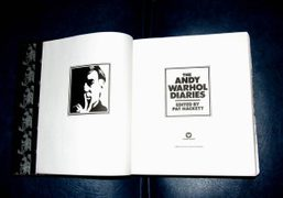 First edition of The Andy Warhol Diaries, West Virginia. Photo Christopher Lusher