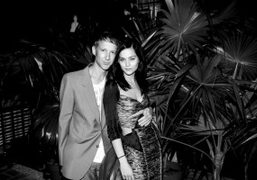 Jefferson Hack and Leigh Lezark at the Marco Brambilla 3D projection, Miami….