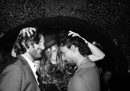 Frederic Beigbeder, Elisa Sednaoui and Haider Ackermann for her birthday at Le…
