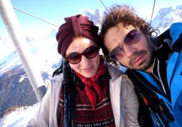 Jennifer Eymere (Jalouse) and me at Flégère, Chamonix. Photo Olivier Zahm