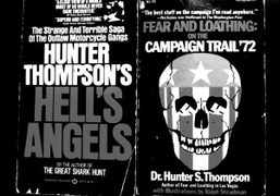 Two first edition Hunter S. Thompson paperbacks, West Virginia. Photo Christopher Lusher