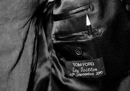 A detail of Lou Doillon's Tom Ford jacket at the Purple office,…