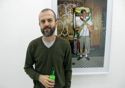 Ari Marcopoulos at the opening of his exhibition This Week on view…
