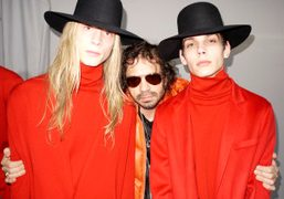 Dior models backstage at the Fall/Winter 2011Dior Homme show, Paris. Photo Olivier…