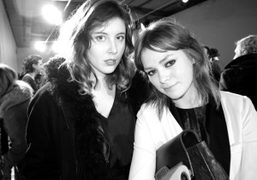 Paula Goldstein and Uffie at the Acne F/W 2011 Mens show, Paris….