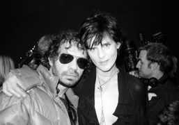 Olivier Zahm and Stella Tennant backstage at the Dior Haute Couture show,…