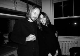 Carine Roitfeld and Alex Wiederin who is designing Carine's biography which I'm…