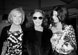 Chantal Roos, Diane von Furstenberg, and Alexandra Roos backstage at the Diane…