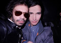 Olivier Zahm and Lazaro Hernandez backstage at Proenza Schouler F/W 2011, New…