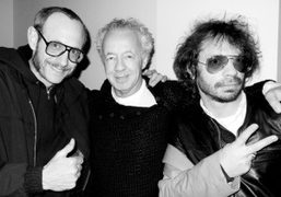 Terry Richardson and Olivier Zahm celebrating the French Photographer Gilles Bensimon at…