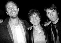 The artist Dan Colen, Mick Jagger, and the protographer Ryan McGinley at…
