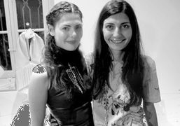 Sara Battaglia and Giovanna Battaglia at the private cocktail party hosted by…