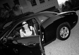 My friend and my LA guide, the Purple photographer annabel mehran, driving…