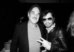 Oliver Stone and Olivier Zahm at Ed Ruscha's diner to celebrate his…