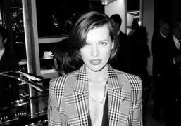 Milla Jovovich (who's more and more beautiful) at the opening of the…