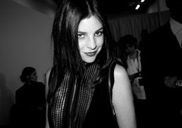 Julia Restoin-Roitfeld at the Givenchy F/W 2011 show, Paris. Photo Olivier Zahm