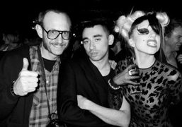 Terry Richardson, Nicola Formichetti and Lady Gaga at the after party for…