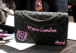 A Chanel handbag customised by André at the Chanel-Colette pop-up at 336-340…