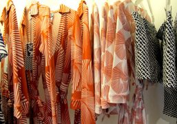 Vintage prints from the Diane collection at the Diane Von Furstenberg store,…