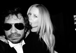 Olivier Zahm and Claudia Schiffer at the Gala Premiere of Le Comte…
