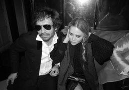 Olivier Zahm and Mary-Kate Olsen at the YSL afterparty for the Met…