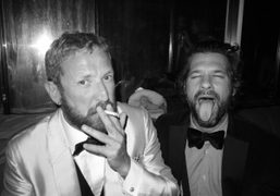 Stefano Pilati and Aaron Young at the YSL afterparty for the Met…