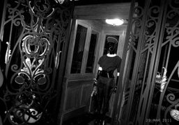 The elevator from the Louis Vuitton F/W 2011 show, Paris. Photo Annabel…