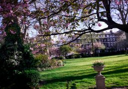 A view of the 18th century Manchester Square Gardens in Marylebone, London….