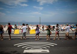 News from the front: a human chain in Rio