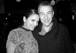 Laure Heriard Dubreuil and the artist Pierre Huyghe at the Chanel dinner…