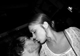Olivier Zahm kissing Chloe Sevigny at the Chanel dinner at Odeon for…