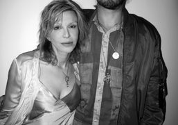 Courtney Love with Salem's Jack Donoghue at Nate Lowman's and Aaron Young's…