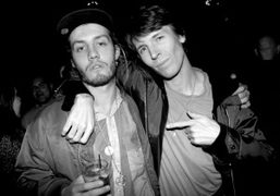 Jack Donoghue from the band Salem with the artist Ryan McGinley at…