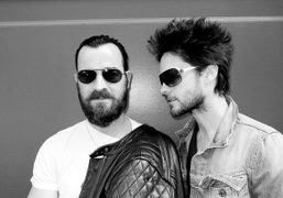 A great portrait of Justin Theroux and Jared Leto on Crosby Street,…