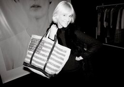 Vanessa Brunoand the exclusive bag for her Pop-Up store atat 131 Greene…