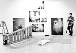 """INSTALLATION OF JEREMY KOST'S FORTHCOMING EXHIBITION """"OF AN INSTANCE"""" IN PARTNERSHIP WITH..."""